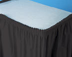 Black Plastic Table Skirts