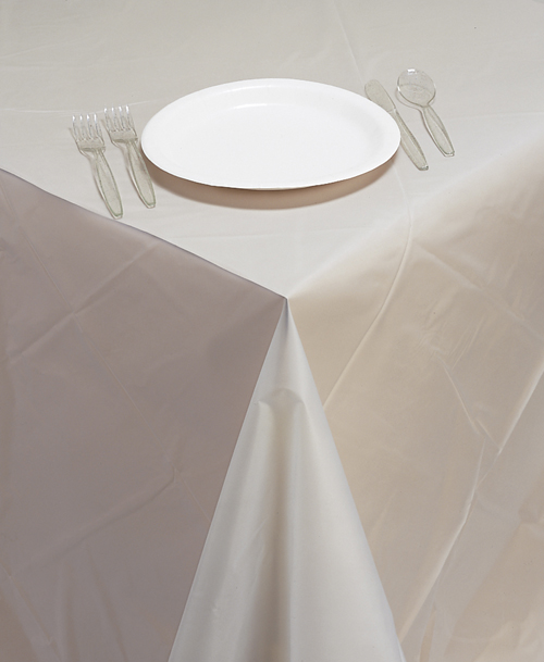 Clear Frost Plastic Table Skirts