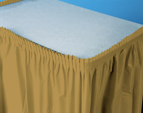 Gold Plastic Table Skirts