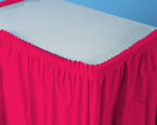 Hot Magenta Plastic Table Skirts