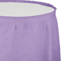 Lavender Plastic Table Skirts