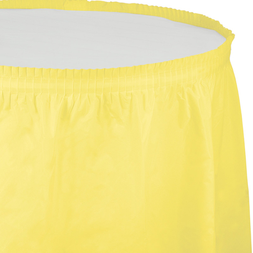 Mimosa Yellow Plastic Table Skirts