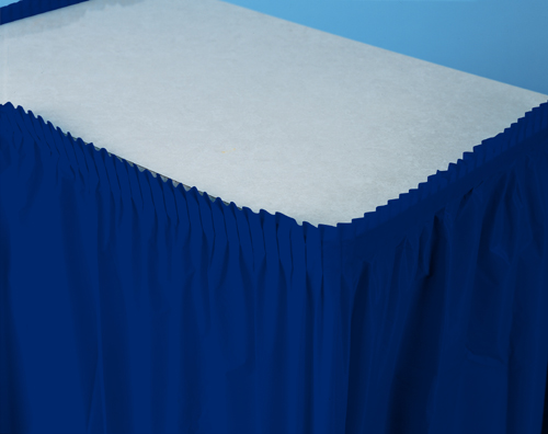 Navy Blue Plastic Table Skirts