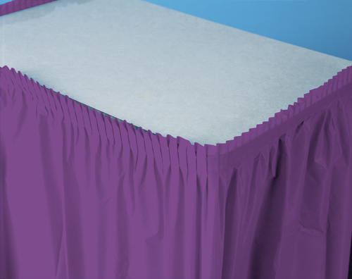 Purple Plastic Table Skirts