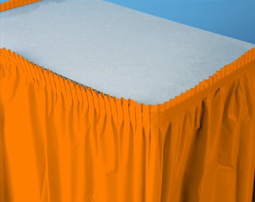 Sunkissed Orange Plastic Table Skirts