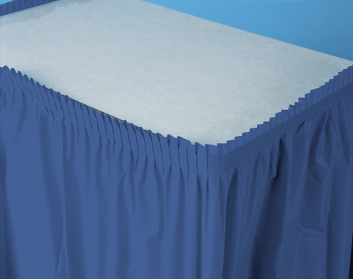 True Blue Plastic Table Skirts