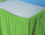 Citrus Green Plastic Table Skirts