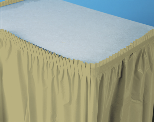 Sage Green Plastic Table Skirts