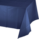 Navy Blue Plastic Banquet Table Covers - 24 Count