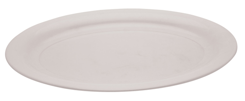 Oval Plastic Serving Trays - White