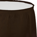 Chocolate Brown Plastic Table Skirts