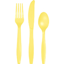 Mimosa Yellow Plastic Cutlery - Assorted
