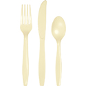 Ivory Plastic Cutlery - Assorted