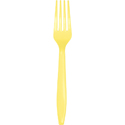 Mimosa Yellow Plastic Forks - 288 Count