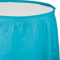 Bermuda Blue Plastic Table Skirts