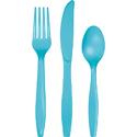 Bermuda Blue Plastic Cutlery - Assorted