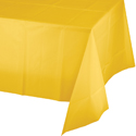 School Bus Yellow Plastic Banquet Table Covers - 24 Count