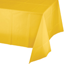 School Bus Yellow Plastic Banquet Table Covers - 12 Count