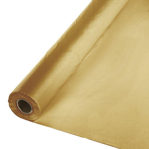 Gold Plastic Table Cover Rolls