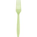 Pistachio Plastic Forks - 600 Count