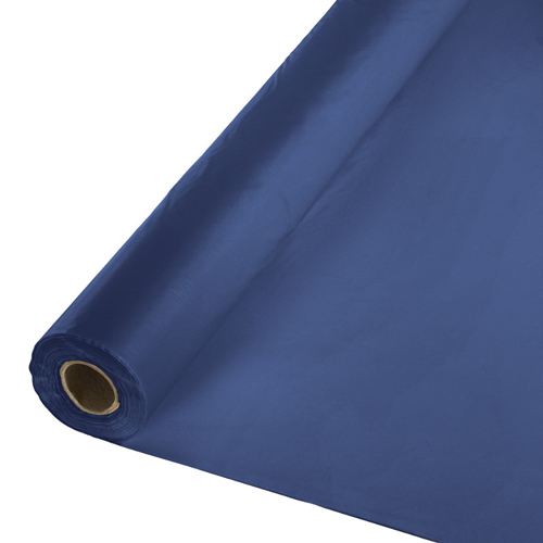 Navy Blue Plastic Table Cover Rolls