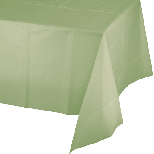Sage Plastic Banquet Table Covers - 12 Count