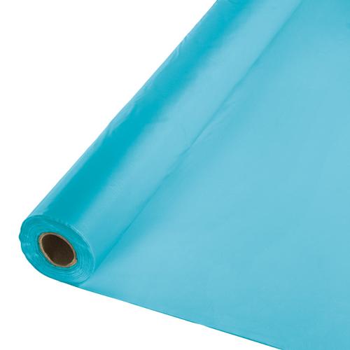 Bermuda Blue Plastic Table Cover Rolls