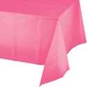 Candy Pink  Plastic Table Covers - 12 Count