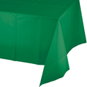 Emerald Green Plastic Banquet Table Covers - 12 Count