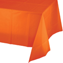 Orange Plastic Banquet Table Covers - 12 Count
