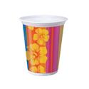 Tropical Stripes Plastic Cups - 16 oz
