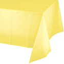Mimosa Yellow Plastic Tablecloths - 54 x 108 Inch