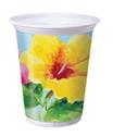 Hibiscus Floral Plastic Cups - 16 oz.