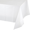 White Plastic Banquet Tablecloths - 12 Count