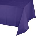 Purple Plastic Banquet Tablecloths - 12 Count