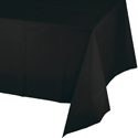 Black Plastic  Banquet Table Covers - 12 Count