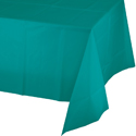 Teal Disposable Plastic Banquet Table Covers - 12 Count