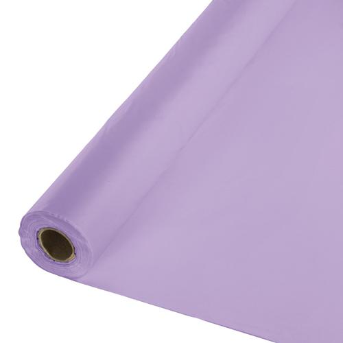 Lavender Plastic Table Cover Rolls