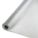 Silver Gray Disposable Plastic Tablecloths - Rolls
