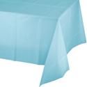 Pastel Blue Plastic Banquet Table Covers - 12 Count