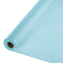 Pastel Blue Plastic Table Cover Rolls