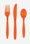 Bittersweet Orange Plastic Cutlery - Assorted