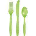 Lime Green Plastic Cutlery - Assorted