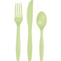 Pistachio Plastic Cutlery - Assorted