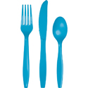 Turquoise Plastic Cutlery - Assorted