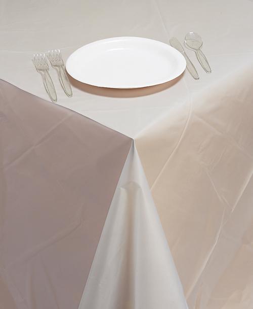 Clear Plastic Banquet Tablecloths - 12 Count