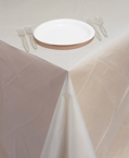 Clear Plastic Banquet Table Covers - 24 Count