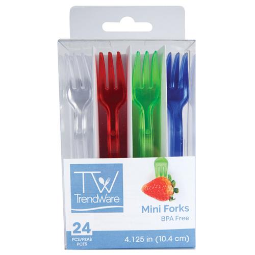 Mini Tasting Plastic Forks - Assorted
