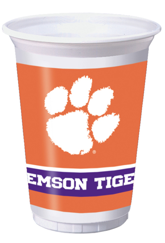 Clemson University Plastic Beverage Cups