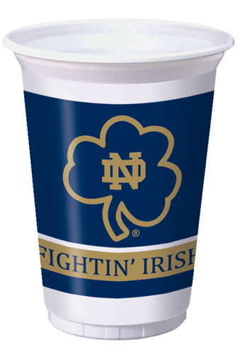 Notre Dame Plastic Beverage Cups